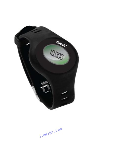 GNC Bluetooth Waist Clip and Watch Band Pedometer, Black