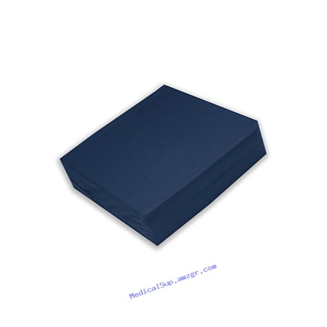 Egg Crate Foam Wheelchair Cushion, Navy Cover - 4 Inch Thick - Helps Distribute Weight, Medical Grade Comfort, Reduce and Prevent Pressure Sores - By Hermell Products