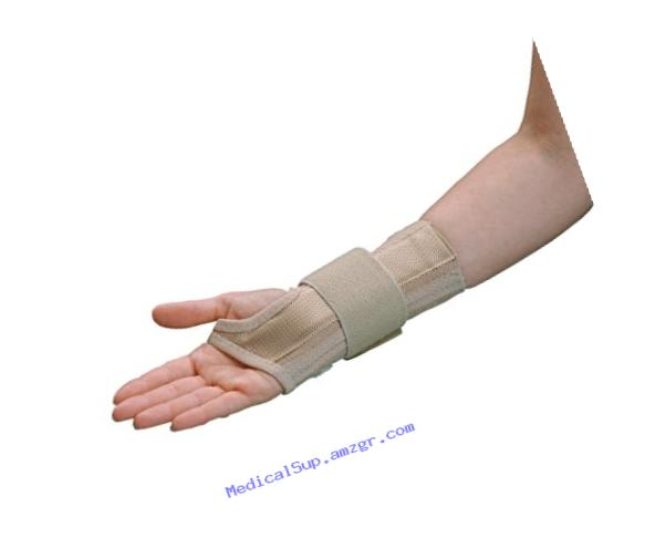 Rolyan AlignRite Wrist Support With Wrap-Around Strap, Long Length, Right, Small, Comfortable Stabilization & Support Brace, Ergonomic Thumb Opening for Full Finger Range of Motion, Breathable