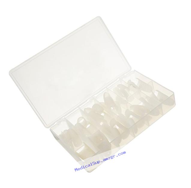 Rolyan Stax Finger Splints, Mallet Finger Splints, Box of 30 Assorted Sample Sizes, Finger Support and Stabilization for Joints, Protection for Fingertip Injuries, DIP Extension and PIP Joint Aid