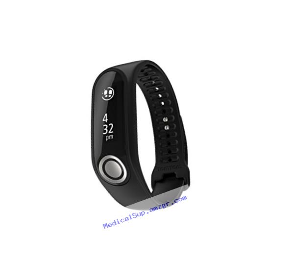 TomTom Touch - Fitness Tracker with Body Composition, Heart Rate Monitor and Smartphone Notifications (Black, Small)