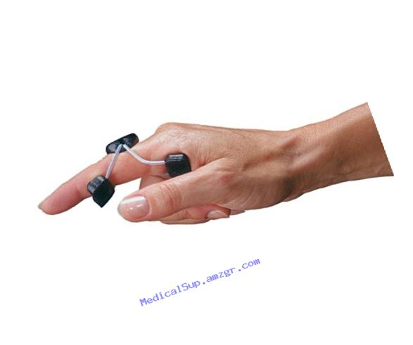 Rolyan A99766 Sof-Stretch Extension Splint, Small, Black, Finger Brace and Knuckle Immobilization Device, Recovery and Rehabilitation Aid for Edema
