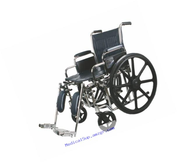 Medline Excel Extra-Wide Wheelchair, 22