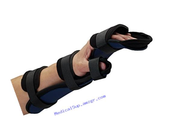 Rolyan Kydex Functional Resting Orthosis for Right Wrist, Wrist Splint for Tendinitis, Inflammation, Carpal Tunnel, & Tendonitis, Splint For Wrist and Forearm Support and Alignment, Large