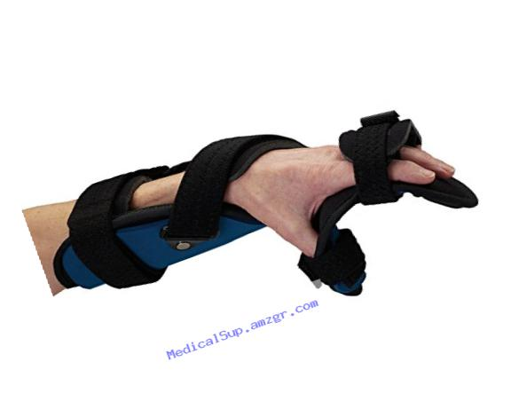 Rolyan Advanced Orthosis, Functional Resting Brace, Left, Large, Foam Liner, Hand & Wrist Support Splint Allows For Extension/Flexion, Radial/Ulnar & Supination/Pronation Adjustments