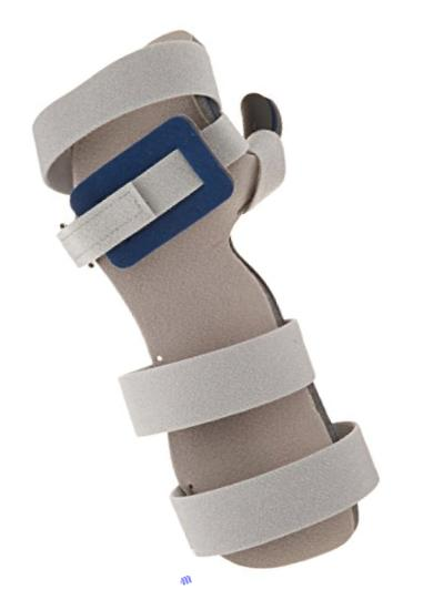 RCAI 29RHO-L-L Resting Hand Orthosis with Finger Separators, Left, Large