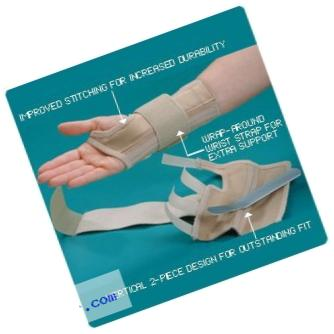 Rolyan AlignRite Wrist Support with Strap, Short Length, Left, Extra-Large, Padded Comfort Stabilization and Support for Restricting Wrist Movement, Ergonomic Open Thumb and Finger for Range of Motion