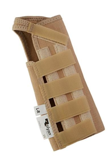 Rolyan AlignRite Wrist Support Without Strap, Long Length, Right, Large, Comfortable Stabilization & Support Brace, Ergonomic Thumb Opening for Full Finger Range of Motion, Breathable & Comfy