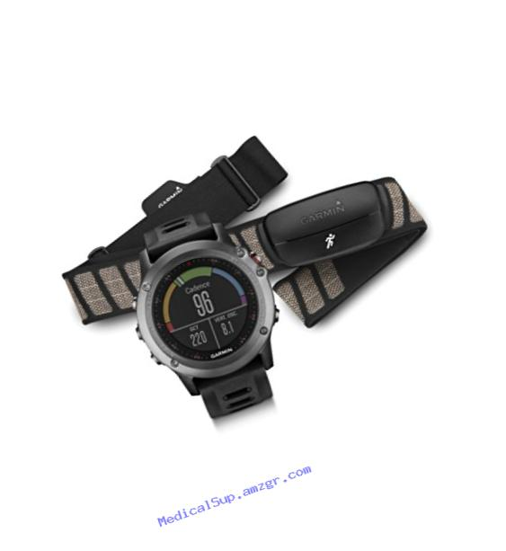 Garmin fenix 3, Gray bundle with Heart Rate Monitor