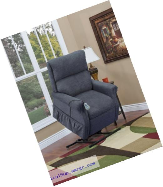 Medlift 1175-EBL Encounter Two-Way Reclining Lift Chair, Blue