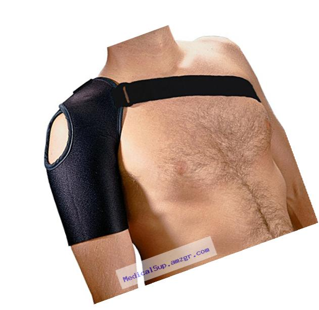 Rolyan MFC II Unilateral Shoulder Orthosis for Left Shoulders, Upper Arm Support with Lycra & Spandex Sleeve for Sports Injuries, Shoulder Strains, Tendonitis, and Torn Ligaments, Limits Motion, Large