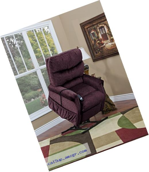 Medlift 1193-CAV Cabo Three-Way Reclining Lift Chair, Vino