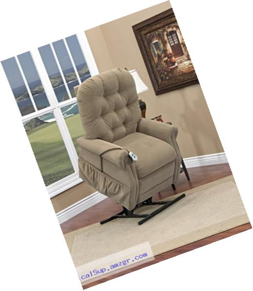 Medlift 2555W-AALB Two-Way Reclining Wide Lift Chair, Aaron Light Brown