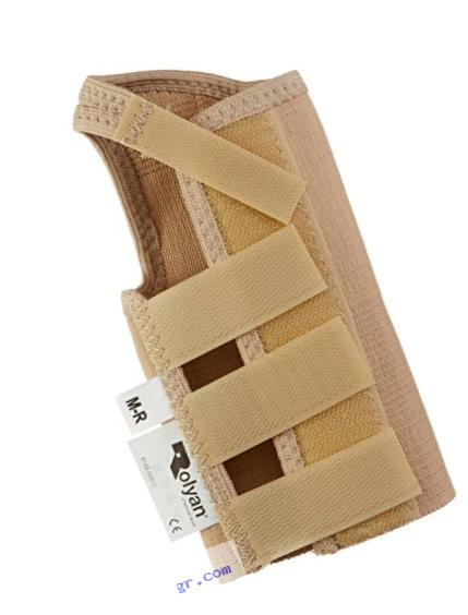 Rolyan AlignRite Wrist Support Without Strap, Short Length, Right, Medium, Comfortable Stabilization & Support Brace, Ergonomic Thumb Opening for Full Finger Range of Motion, Breathable & Comfy