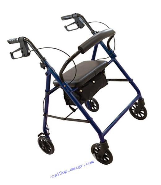 Roscoe Medical RL-STBL Steel Rollator/Rolling Walker with 6