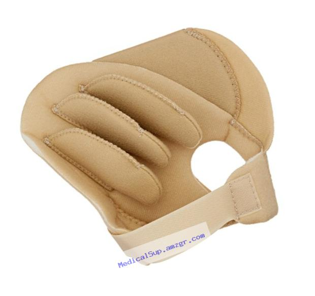 Rolyan Sof-Foam Palm Shield for Left Hand, Foam Contracture Cushion to Support Fingers, Padded Hand Protector with Finger Separators for Left Hands, Medical Gloves for Stroke, Disabled, Elderly