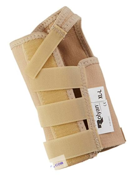 Rolyan AlignRite Wrist Support Without Strap, Short Length, Left, X-Large, Comfortable Stabilization & Support Brace, Ergonomic Thumb Opening for Full Finger Range of Motion, Breathable & Comfy